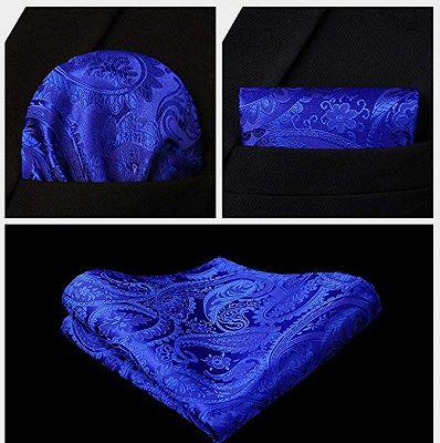 Royal Blue Paisley Mens Vest_4