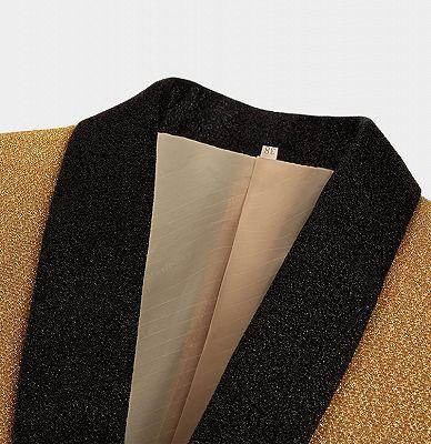 Glitter Sequin Blazer for Men | Custom Gold Men Suits for Prom_3