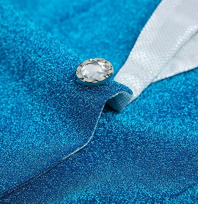 Glitter Baby Blue Peak Lapel Blazer | Unique Sequin Men Suits Cheap Online_4
