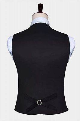 Teal Blue Paisley Mens Suit Prom Vest Set Online_2