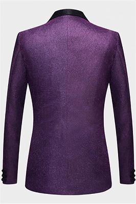 Sparkly Purple Sequins Blazer Online | One Piece Shiny Prom Suits_2