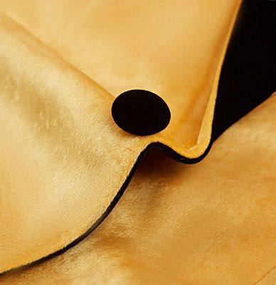 Yellow Velvet Blazer Suits | Slim Fit One Button Prom Tuxedo_4