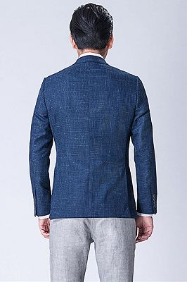 Dark Blue Business Jacket for Men   Blazer_2