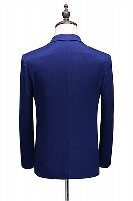 Navy Blue Simple Formal Tuxedo | Tailored Slim fit Men Suits online_2