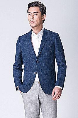 Dark Blue Business Jacket for Men   Blazer_3