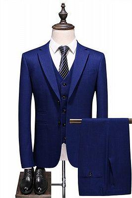 Navy Blue Simple Formal Tuxedo | Tailored Slim fit Men Suits online_1