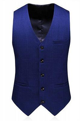 Navy Blue Simple Formal Tuxedo | Tailored Slim fit Men Suits online_3