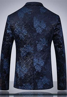 Formal Men Suits for Wedding Prom   Navy Blue Business Man Blazer Groom Wedding Tuxedos_2