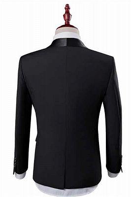 New Arrival Black Groom Tuxedos Groomsmen | Shawl Lapel Best Men Suit Bridegroom Wedding Prom Suits_2