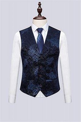 Formal Men Suits for Wedding Prom   Navy Blue Business Man Blazer Groom Wedding Tuxedos_3