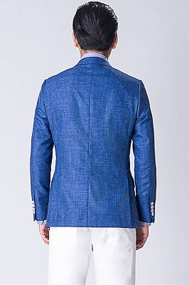 Blue blended Blazer | Formal Business Jacket with Two Button_2